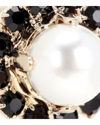 Givenchy - Black Crystal-embellished Earrings - Lyst