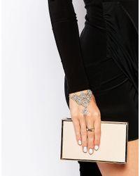 Oasis - Metallic Filigreen Hand Harness - Gold - Lyst
