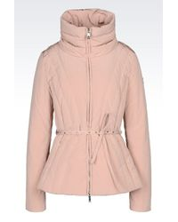 Armani Jeans | Pink Down Coat | Lyst