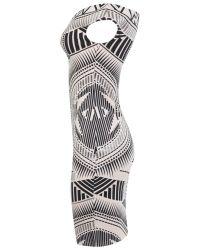 Miss Selfridge - White Bodycon Dress - Lyst