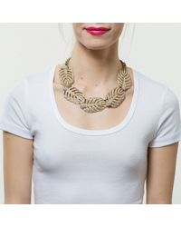 Lulu Frost | Metallic Goldtone Drift Statement Necklace | Lyst