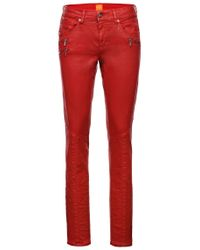BOSS Orange Red Slim-fit Jeans: 'orange J20 London' With A Special Coating