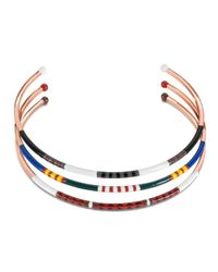 Tory Burch | Red Multi-Color Skinny Collar Necklace | Lyst