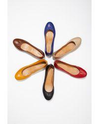 Forever 21 | Orange Classic Ballet Flats | Lyst