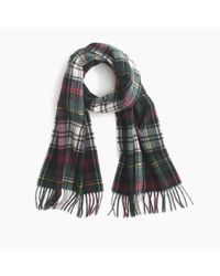J.Crew | Multicolor Cashmere Scarf In Plaid for Men | Lyst