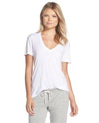 Monrow | White Oversize Cotton Blend Tee | Lyst