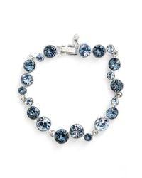 Givenchy | Blue Crystal Line Bracelet | Lyst