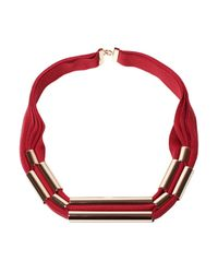 Marion Vidal - Pink Silk Cord And Rose Gold Necklace - Lyst