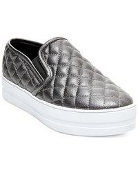 Madden Girl | Metallic Plaaya Quilted Flatform Slip-on Sneakers | Lyst