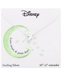 Disney | Metallic Tinker Bell Pendant Necklace In Sterling Silver | Lyst