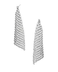 Michael Kors | Metallic Crystal Mesh Drop Earrings | Lyst