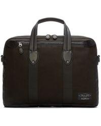 Rag & Bone Black Canvas Derby Briefcase for men