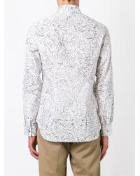 Paul Smith | White Scribble Print Shirt for Men | Lyst