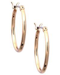 Nine West | Metallic Gold Hoop Earrings | Lyst
