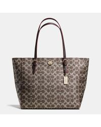 COACH | Metallic Signature Canvas Tote | Lyst