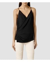 AllSaints - Black Alize Ly Top - Lyst