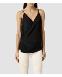 AllSaints | Black Alize Ly Top | Lyst