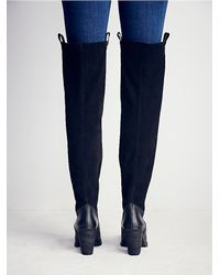 Free People - Black Sixty Seven + Womens Staircase Suede Tall Boot - Lyst