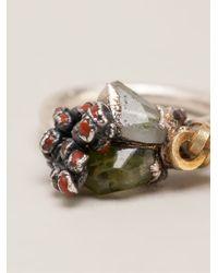 Ruth Tomlinson - Metallic Encrusted Ring - Lyst