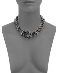 Giles & Brother | Metallic Heavy Rope Chain Loop Necklace | Lyst