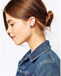 Ted Baker - Royal Blue Tempany Stud Earring - Lyst
