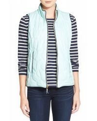 Vineyard Vines | Green Whale Tail Zigzag Quilted Vest | Lyst