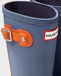 Hunter | Blue Original Kids' Contrast Sole Rain Boots | Lyst