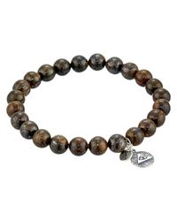 Chan Luu | Brown 7 1/2' Bronzite Stretchy Single Bracelet for Men | Lyst