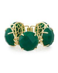 Kendra Scott | Green Cassie Round-station Bracelet | Lyst