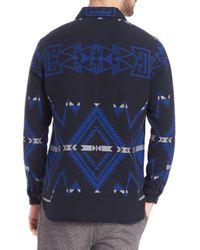 Polo Ralph Lauren - Black Southwestern Jacquard Sportshirt for Men - Lyst