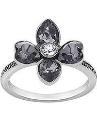 Swarovski - Black Bunch Ring - Lyst