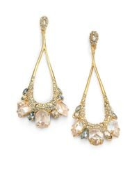 Alexis Bittar | Metallic Miss Havisham Jagged Crystal Marquis Cluster Drop Earrings | Lyst