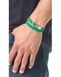 Miansai - Green Trice Woven Leather Wrap Bracelet for Men - Lyst