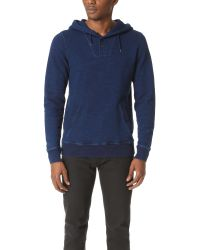 Scotch & Soda | Blue Home Alone Hoodie With Button Closure for Men | Lyst
