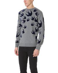 McQ - Gray Clean Crew Neck Sweatshirt for Men - Lyst