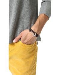 Miansai - Metallic Anchor Rope Wrap Bracelet for Men - Lyst