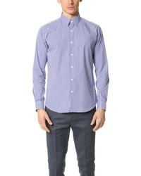 Theory | Blue Sylvain Gingham Dress Shirt for Men | Lyst