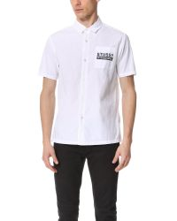 Stussy - White City Print Shirt for Men - Lyst