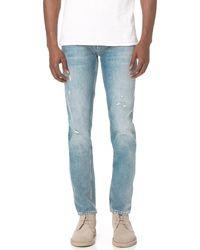 Current/Elliott | Blue Slim Straight Fit Jeans for Men | Lyst