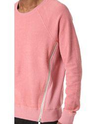 Den Im - Pink Side Zip Crew Sweatshirt for Men - Lyst