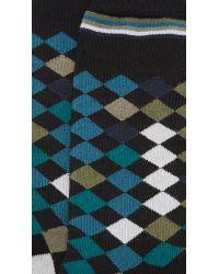 Paul Smith - Black Falling Diamond Socks for Men - Lyst