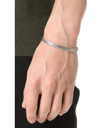 Caputo & Co. - Metallic Clean Metal Cuff for Men - Lyst