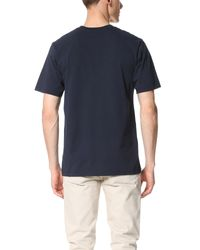 MSGM - Blue Box Logo Tee for Men - Lyst
