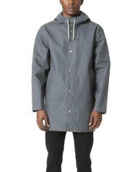 Stutterheim | Gray Stockholm Rain Coat for Men | Lyst