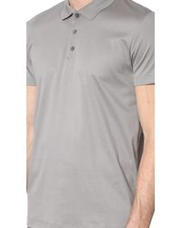 Theory - Gray Boyd Tertiary Polo for Men - Lyst