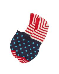 Happy Socks - Brown Stripe & Dot Loafer Socks for Men - Lyst