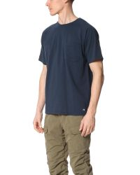 White Mountaineering - Blue Raglan Short Sleeve Tee for Men - Lyst