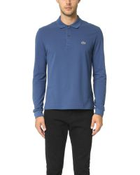 Lacoste   Blue Long Sleeve Classic Polo Shirt for Men   Lyst