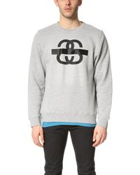 Stussy - Pink Taped Long Sleeve Sweatshirt for Men - Lyst