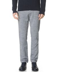 French Trotters - Gray Classic Chinos for Men - Lyst
